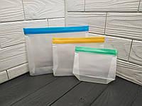 Многоразовые силиконовые пакеты для хранения продуктов, набор из 3 шт. Пакеты для хранения еды