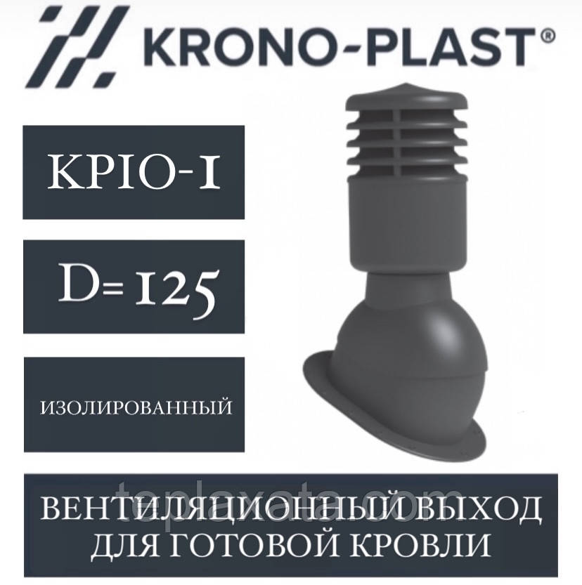 KRONOPLAST KPIO-1 (125 мм) Вент.выход для готовой кровли