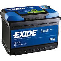 Аккумулятор 74Ah-12v Exide EXCELL EB740 (278х175х190),R,EN680, фото 1