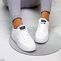 Белые Женские кроссовки демисезонные, кожаные, купить в Украине экокожа размер