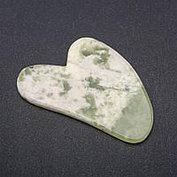 Массажер-скребок ГуаШа из натурального камня Оникс 5,5х8см купить оптом в интернет магазине