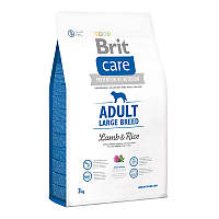 Корм Brit Care Adult Large Breed Lamb & Rice для крупных пород собак 132713 /9973, 3кг