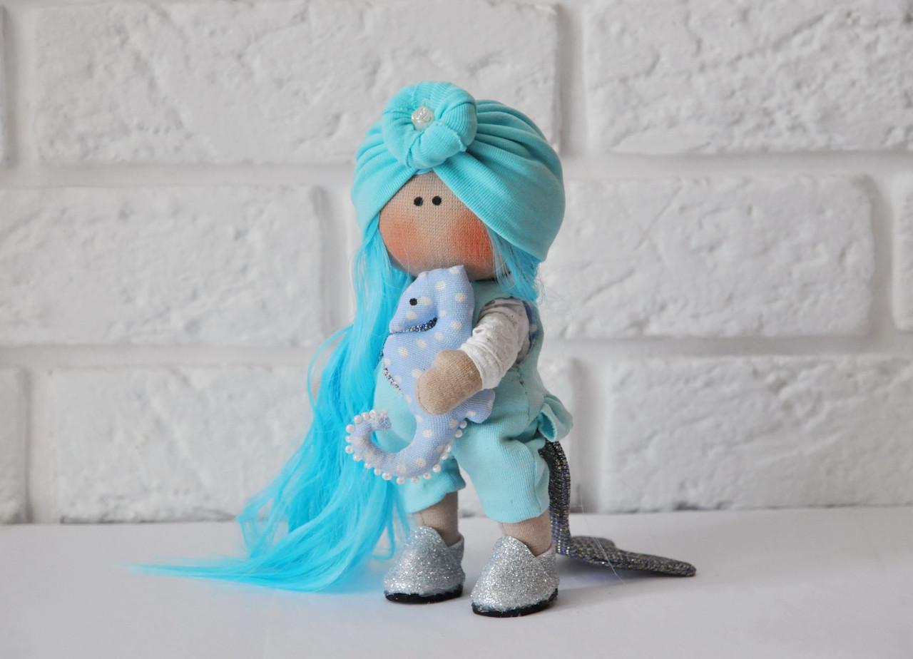 Кукла русалочка  ручной работы, малышка 16 см