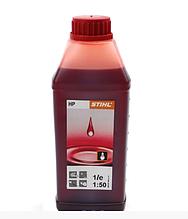Моторное масло STIHL HP (1л) для 2-х тактных двигателей   масло Штиль для бензопилы на минеральной основе