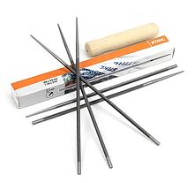 """Круглый напильник STIHL (Ø4,8 мм х 200мм) с деревянной ручкой   напильник Штиль для пильных цепей с шагом 325"""""""