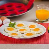 Форма силіконова для смаження яєць,оладок,гарячих бутербродів SC-001, фото 3