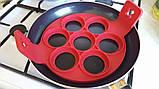 Форма силіконова для смаження яєць,оладок,гарячих бутербродів SC-001, фото 4