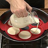 Форма силіконова для смаження яєць,оладок,гарячих бутербродів SC-001, фото 5