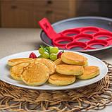 Форма силіконова для смаження яєць,оладок,гарячих бутербродів SC-001, фото 7