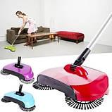 Механічна щітка-віник, швабра для прибирання підлоги Sweep drag all in one, фото 9