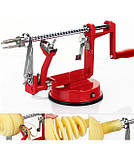Машинка для спіральної нарізки картоплі Spiral Potato Slicer | картофелерезка | овочерізка | мультирезка, фото 3