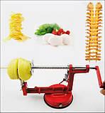 Машинка для спіральної нарізки картоплі Spiral Potato Slicer | картофелерезка | овочерізка | мультирезка, фото 5