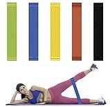Фітнес гумки Fitness rubber bands (5 шт в комплекті) Набір стрічок-еспандерів гумок для фітнесу, фото 3