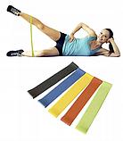 Фітнес гумки Fitness rubber bands (5 шт в комплекті) Набір стрічок-еспандерів гумок для фітнесу, фото 4