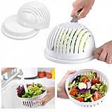 Салатница - овощерезка 2 в 1 Salad Cutter Bowl AG чаша для нарезки овощей и салатов, фото 5