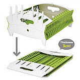 Настольная сушилка органайзер для посуды HLV Collapsible compact dish rack Green, фото 4