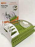 Настольная сушилка органайзер для посуды HLV Collapsible compact dish rack Green, фото 5