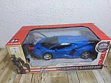 Машинка Трансформер Lamborghini Car Robot Size 18 СИНЯ, фото 2