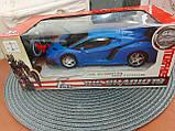 Машинка Трансформер Lamborghini Car Robot Size 18 СИНЯ, фото 4