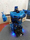 Машинка Трансформер Lamborghini Car Robot Size 18 СИНЯ, фото 5