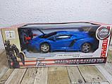 Машинка Трансформер Lamborghini Car Robot Size 18 СИНЯ, фото 6