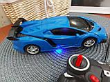 Машинка Трансформер Lamborghini Car Robot Size 18 СИНЯ, фото 10