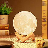 Світильник нічник 3D куля Місяць Moon Lamp, фото 4