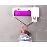 Держатель диспенсер для зубных щеток и пасты настенный автоматический УФ-стерилизатор Toothbrush Sterilizer JX, фото 3