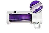 Держатель диспенсер для зубных щеток и пасты настенный автоматический УФ-стерилизатор Toothbrush Sterilizer JX, фото 9