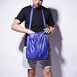 Складная компактная сумка-шоппер Shopping bag to roll up СИНЯЯ, фото 3