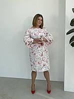 Ошатне літнє плаття з шикарними рукави, Опт і роздріб. Розмір 52, 54, 56, 58