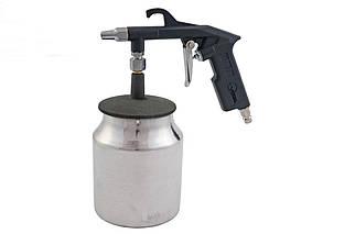 Пневмопістолет піскоструменевий Intertool - нижній бак 1000 мл 8bar (PT-0705), (Оригінал)