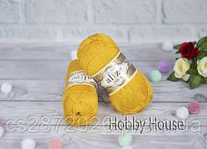 Пряжа Ализе Дива, Alize Diva, цвет №488 темно желтый