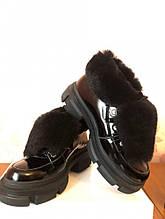 Жіночі черевики з хутром Vanessa чорні