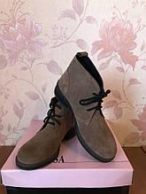 Жіночі черевики натуральний замш бежевий