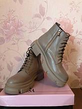 Жіночі черевички натуральна шкіра Vanessa бежевий