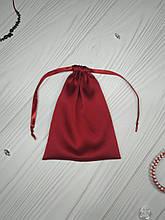 Подарунковий мішечок з шовку Армані 13*18 см (шовковий мішечок, мішечок для прикрас) колір - бордо