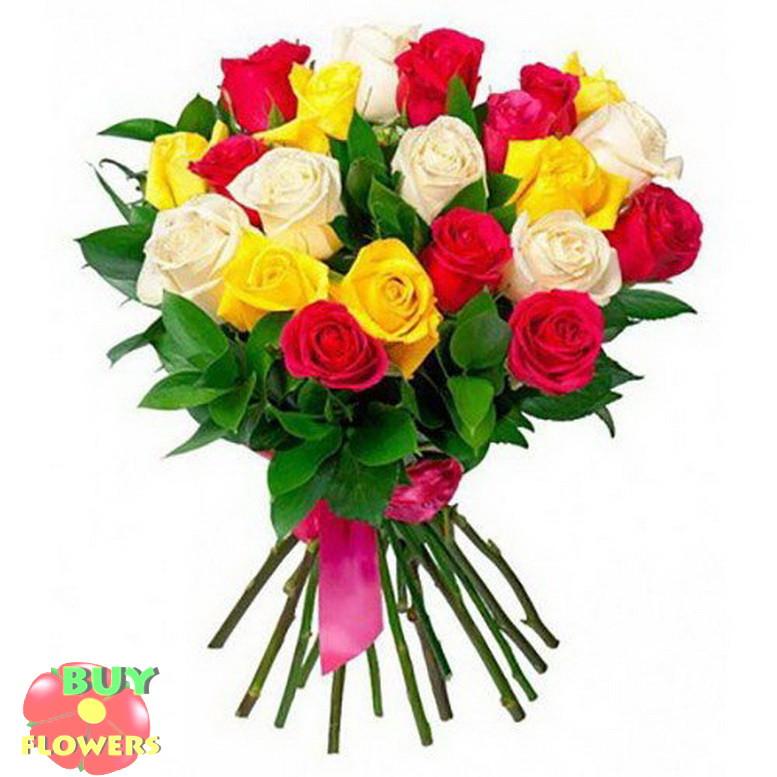 Розы микс спрей