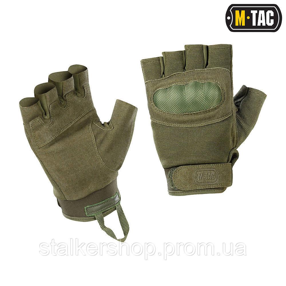 Перчатки беспалые Assault Tactical Mk.3 Olive, M-Tac