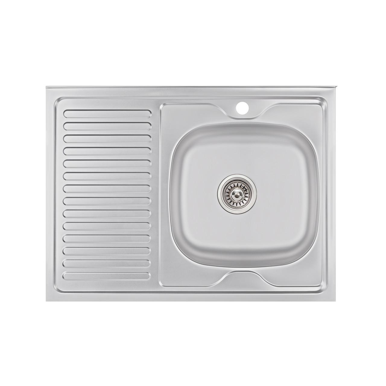 Кухонна мийка Lidz 6080-R Satin 0,6 мм (LIDZ6080R06SAT)