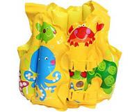 Жилет для плавания 41х30 см Тропические друзья от 3 до 5 лет SKL82-290911
