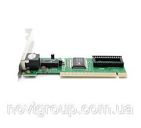 Мережевий адаптер Merlion, 8139D, 10/100 Mb / s LAN, PCI, Realtek, OEM Q500