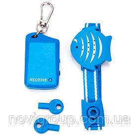 Портативна сигналізація на руку, передавач + приймач, синя