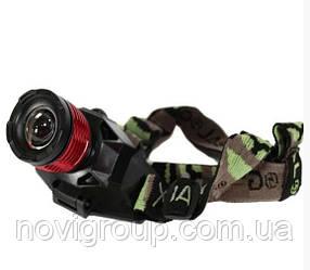 Налобний Ліхтарик Bailong BL-6908 + УФ, 4 реж., Zoom, корпус-пластик, водостійкий, ударостійкий, 18650