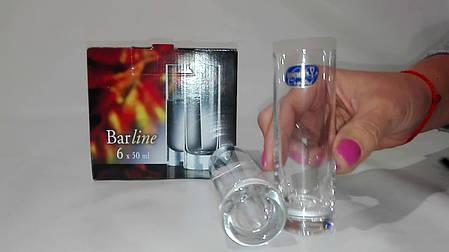 Чарки для горілки Bohemia Barline 25089/050 50 мл 6 шт, фото 2