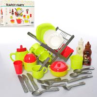 Большой и красивый игровой набор Сушка для посуды Teapot Party 40 pieces (в наборе 40 предметов) Посуда XG1-3