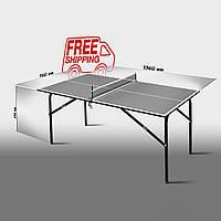 """Теннисный стол для помещений  """"Феникс"""" Kids антрацит"""