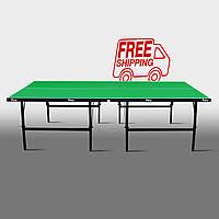 Теннисный стол для помещений «Феникс» Basic Sport M16 зеленый
