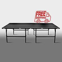 Теннисный стол для помещений «Феникс» Basic Sport M16 черный