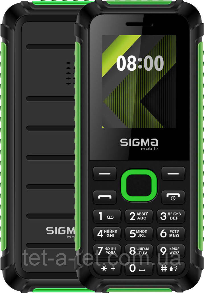 Мобільний телефон Sigma Mobile X-style 18 Track Black-Green